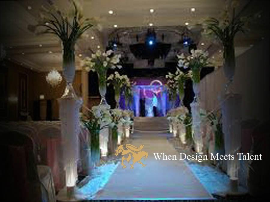 Classy interior design wedding hall event weddings for Marriage hall interior designs